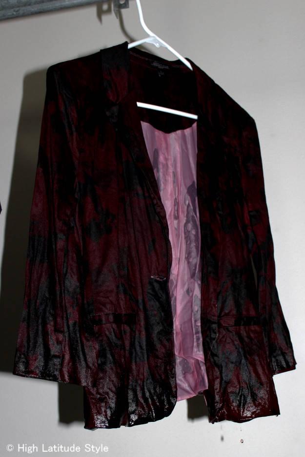 #DIY drip drying the dyed blazer
