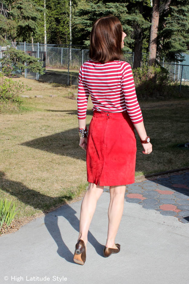 #fashionover40 gamine inspired OOTD