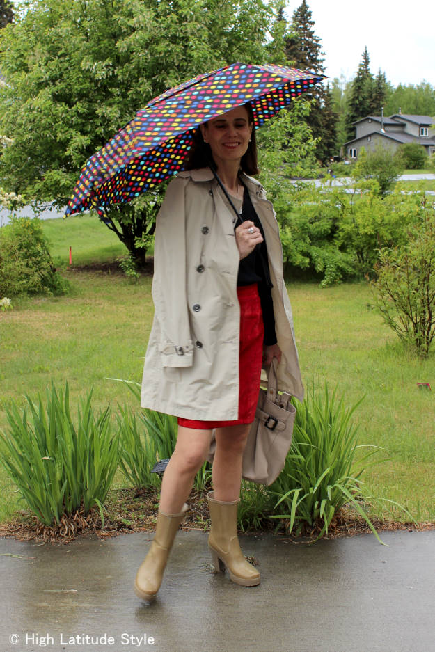 #styleover40 bad weather on vacation outfit