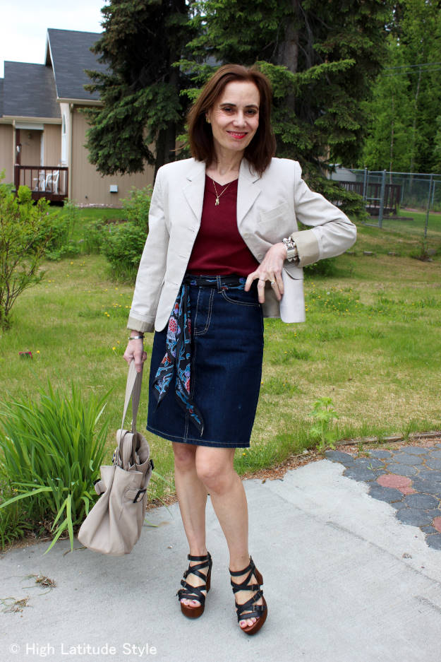 #Musse&Cloud mature woman in California casual work outfit
