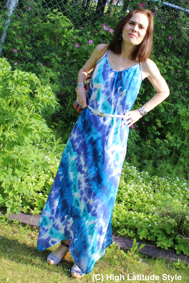 #HawaiianTropic beach dress styled up for a promenade along the stores