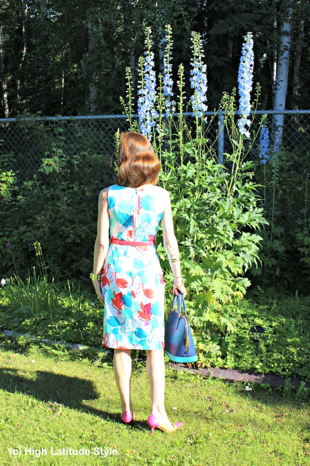 #maturefashion woman in chic summer dress