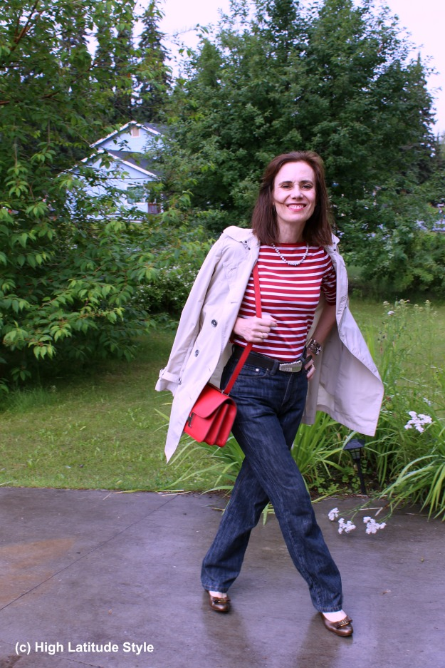 #styleover50 French inspired outfit for mature women