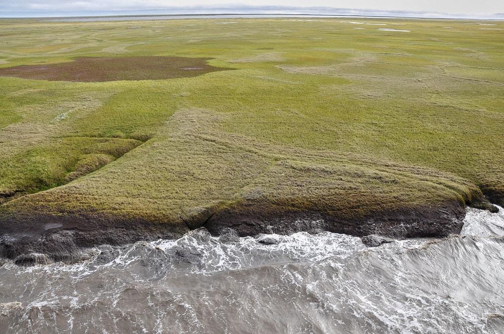 foam on Beaufort Seacoastline