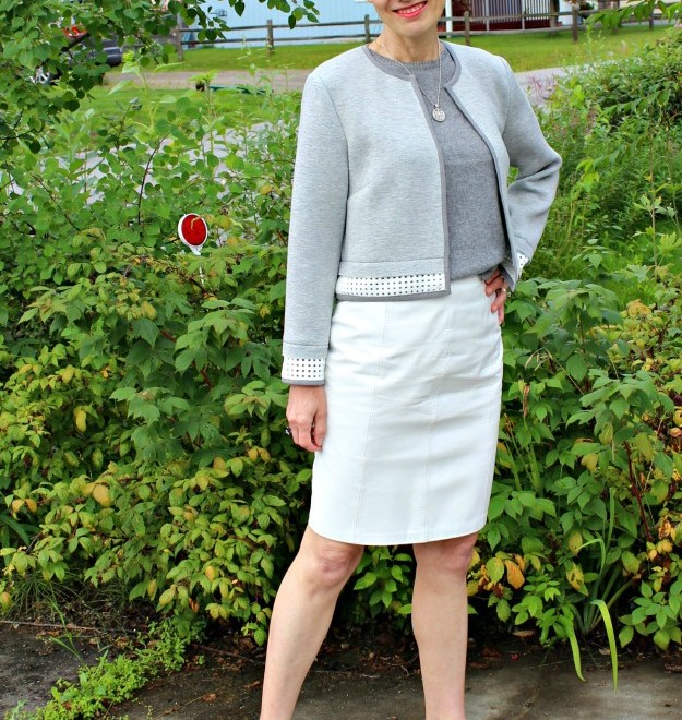 #fashionover50 mature woman in monochromatic fall look