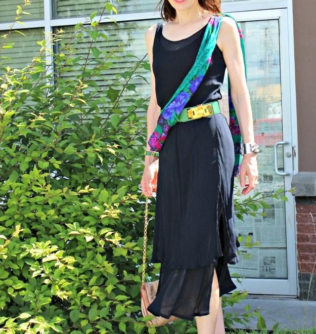 #fashionover40 mature woman in summer dress