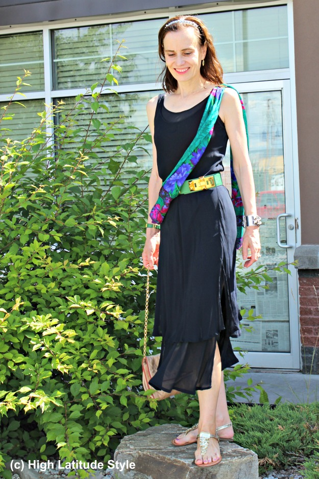 #fashionover40 mature woman in summer dress