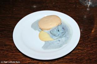 purple potato ice cream with cookies