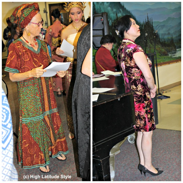 mature women in traditional clothes