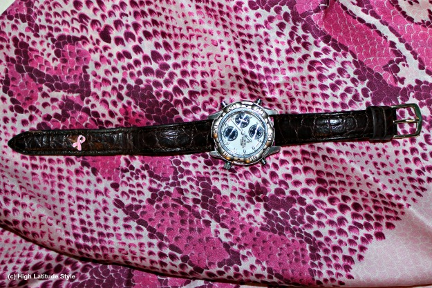 #iPops pink ribbon iPop popped into a leather watch band for a mature look