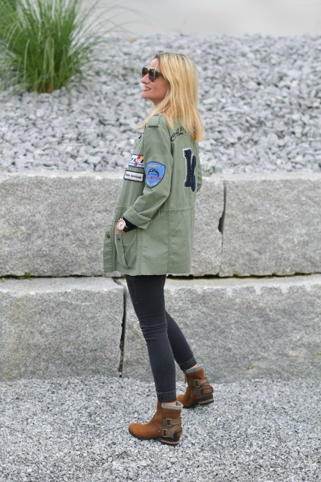 fashion over 50 woman in denim and utility jacket