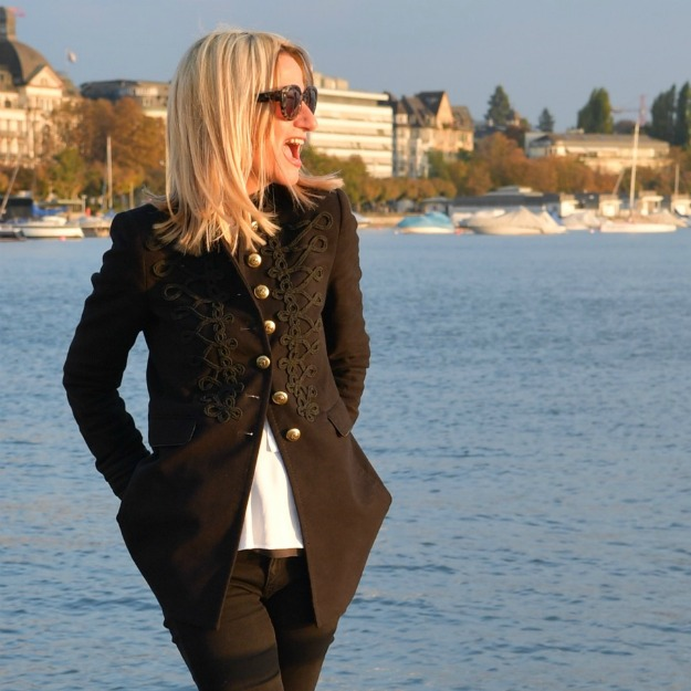 #midlife woman in embroidery blazer
