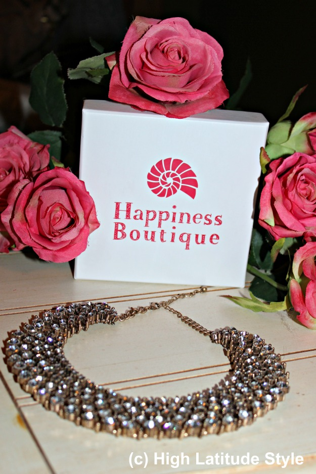 #jewelryover40 Happiness Boutique statement necklace and gift box