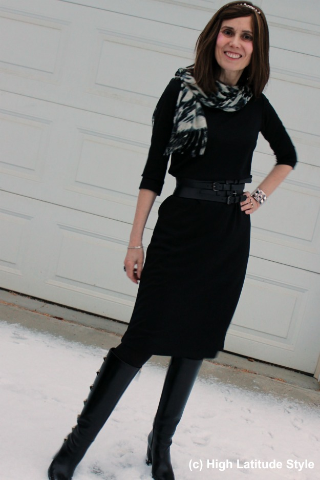 #maturefashion woman in work outfit #CoveredPerfectly