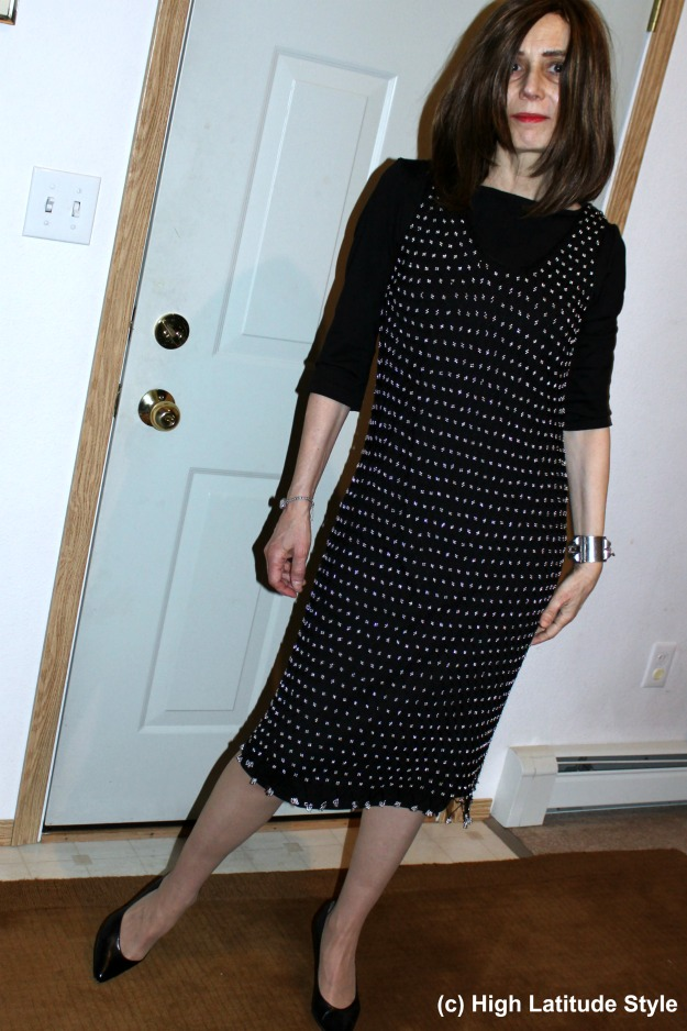#over40style mature woman in party look