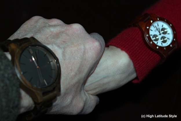#coolwatch wood watch lovers holding hands