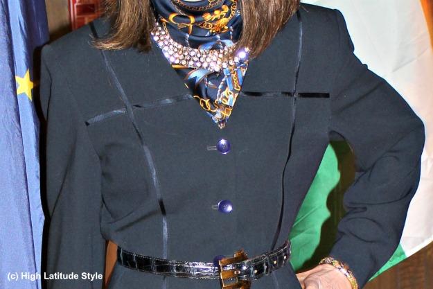 sparkling necklace and belt