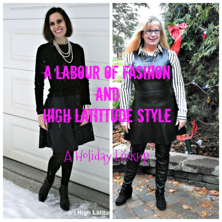 #styleover50 two women in leather dress