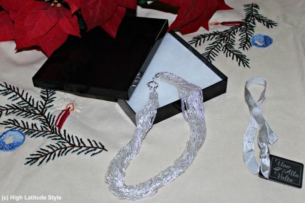 #styleover50 Handcrafted Murano magnificence silver torsade statement necklace c/o Una Alla Volta