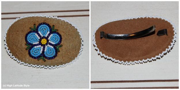 #hairjewelry traditionally beaded hair pin