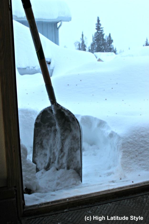 #Alaska snow deposit from one Bering Sea snow storm