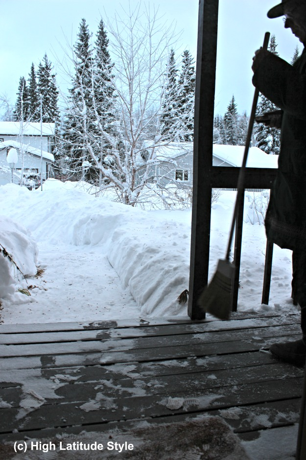 #AlaskaLifestyle snow shoveling is involved and needs fitness