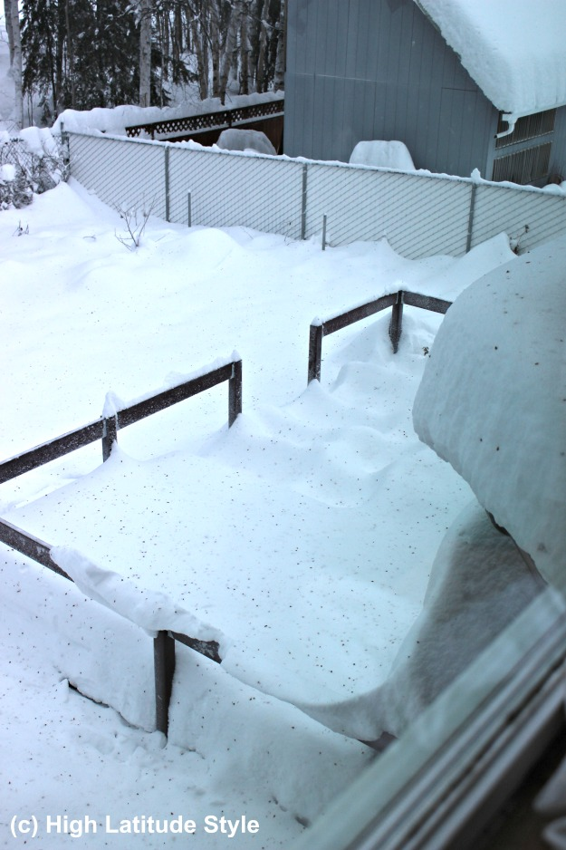 #FocusAlaska snow on the roof and deck