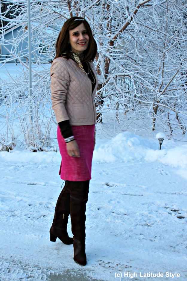 #fashionover50 Alaskan woman in shopping outfit