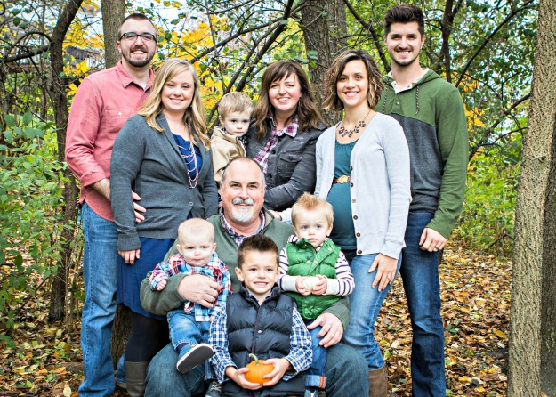 dress-up family photo