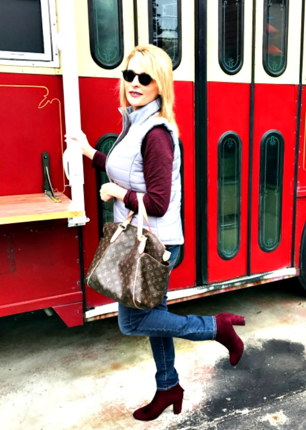 #fashionover50 Varlerie in casual posh winter look