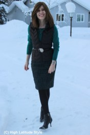 Fashion over 50 woman in winter outfit
