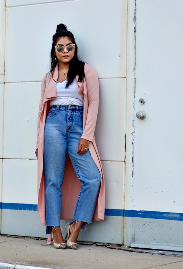 Top of the World OOTD My Fav pink duster