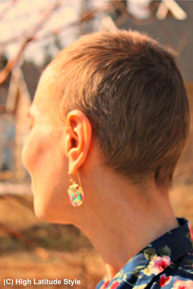 #UnoAllaVolta iridescent ear jewelry