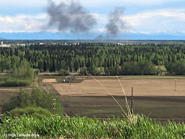 Smoke over the Tanana Flats