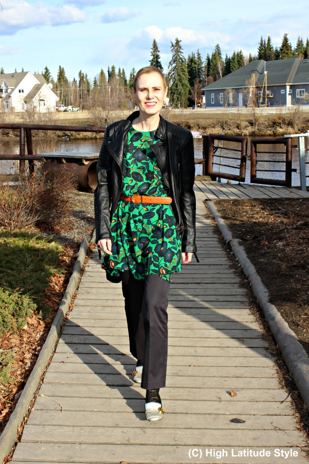 fashionover50 woman in casual work outfit