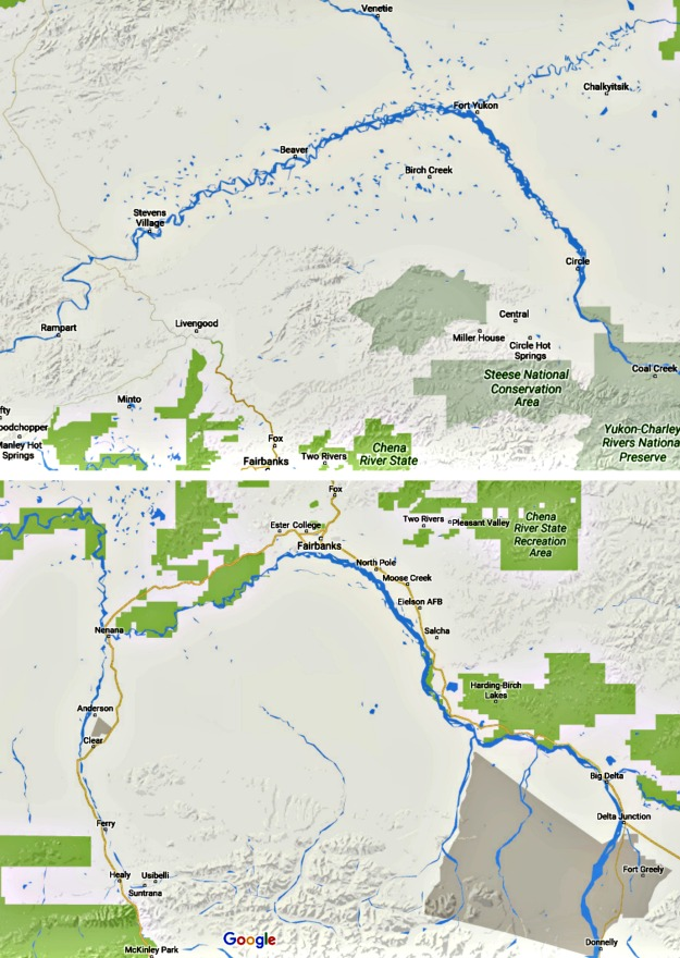 Alaska Maps of the Yukon Flats and Tanana Valley