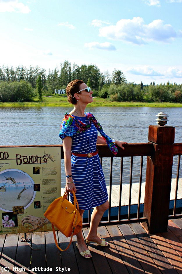 fashion over 50 woman in summer weekend look