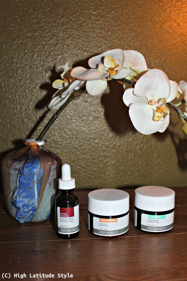 #beautyover40 ZENMED Retinol Booster, Omegaceramide+ Recovery Moisturizer, and Clearpeel