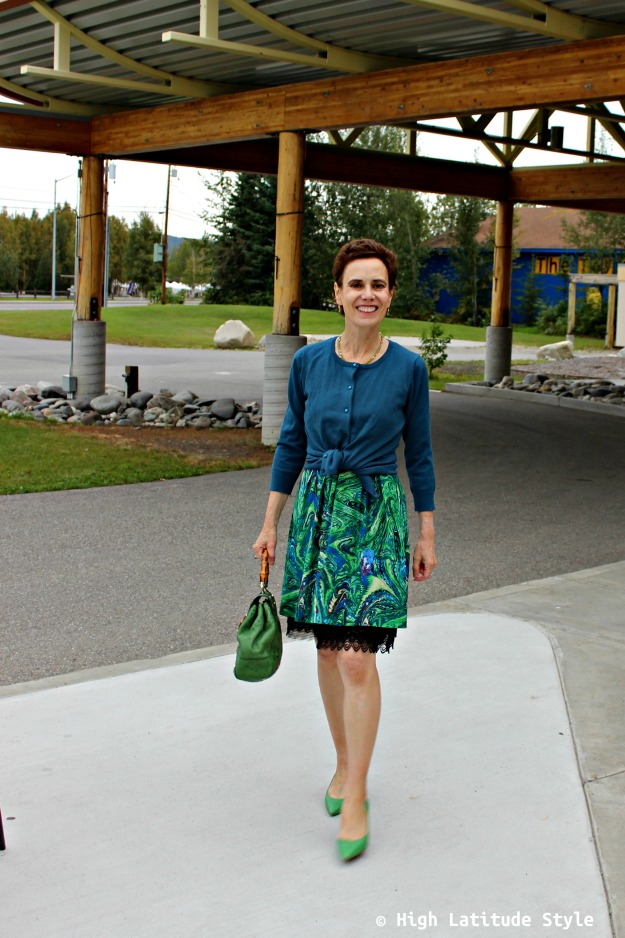 #styleover50 woman in work outfit
