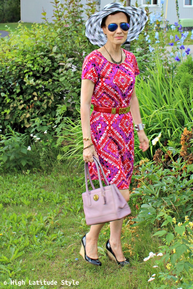 #advancedstyle woman with mixed pattern