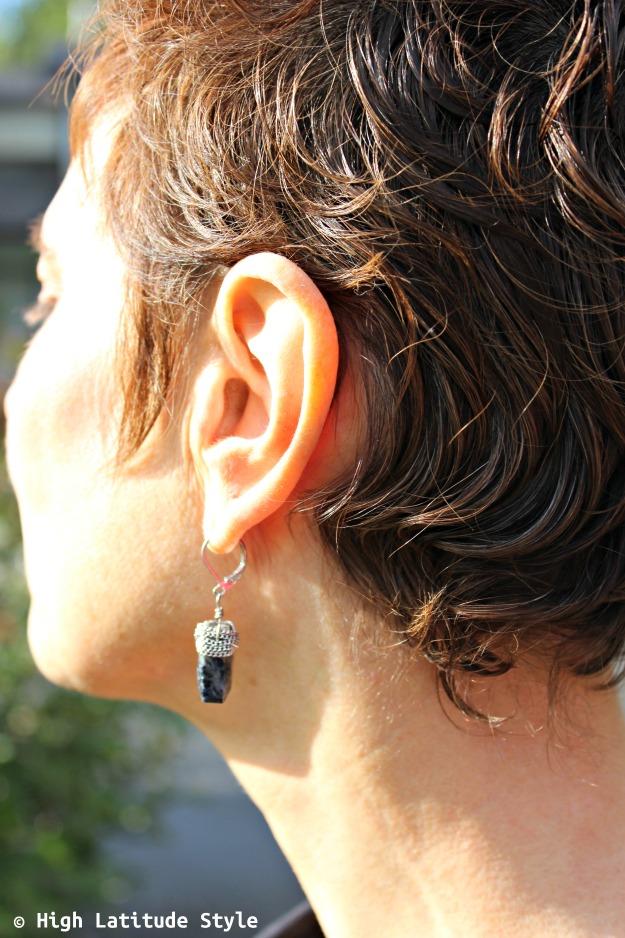 lapis semi-precious gemstone earrings