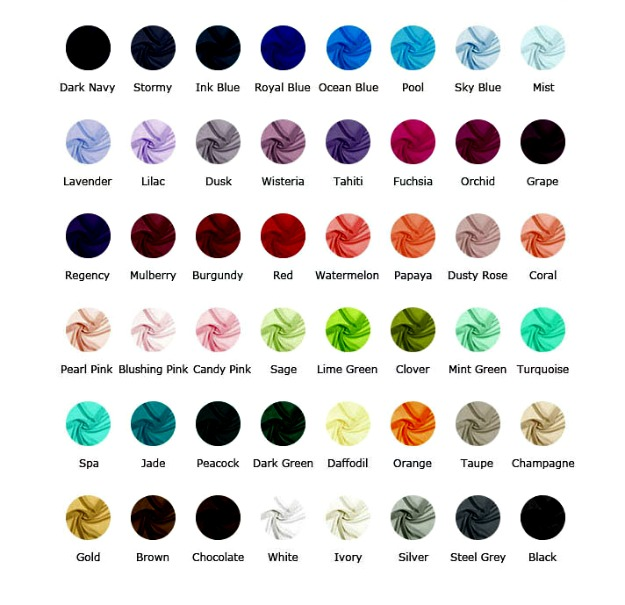 #JJsHouse color chart