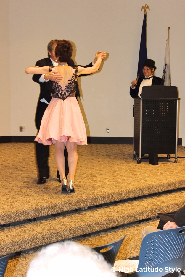 couple dancing in formal attire