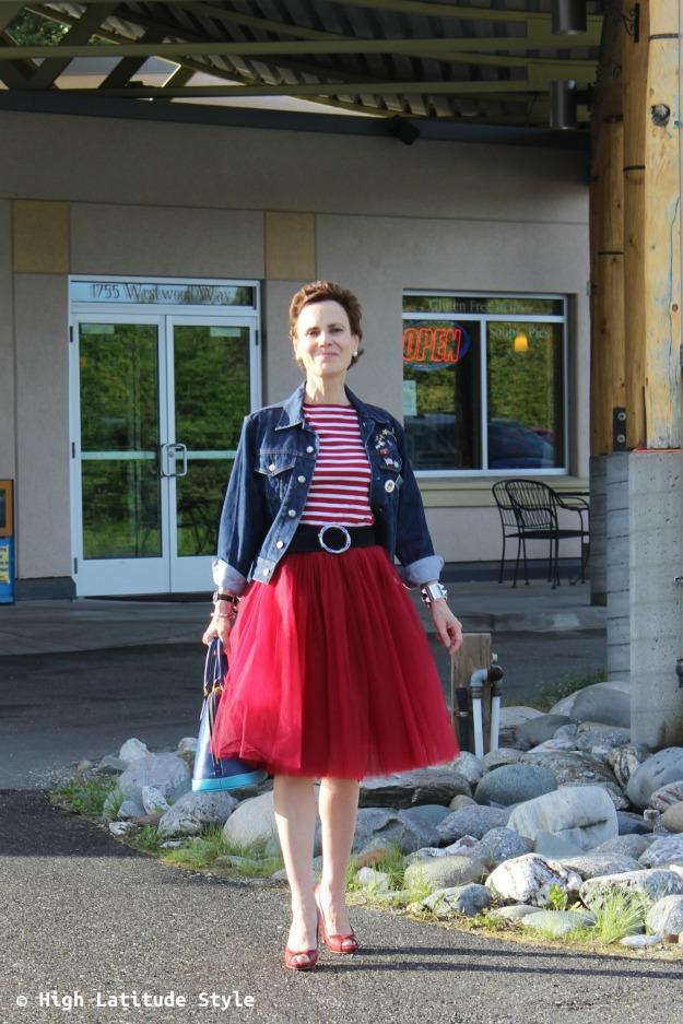 #maturestyle woman turning fashion into style