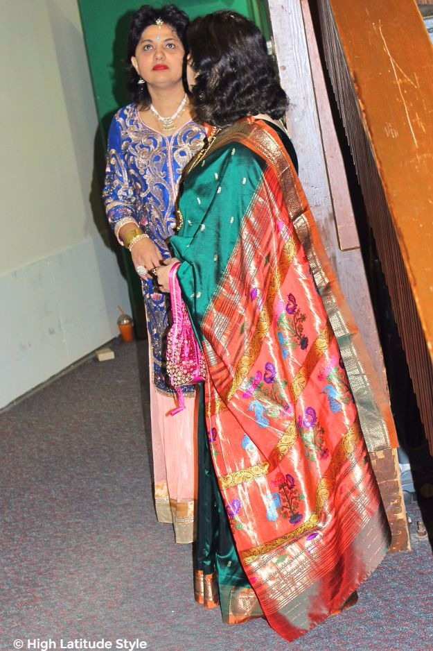 mature women in Indian clothing