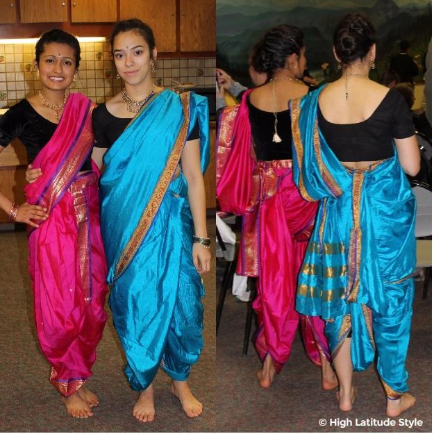 young women in sari