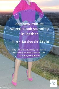 See how these midlife women look stunning in leather