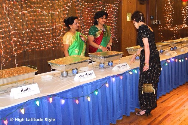 #midlifestyle women looking posh chic in their sarees