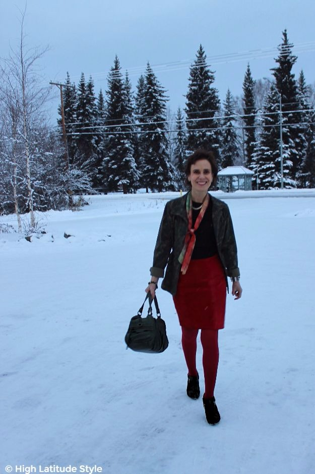 Look, you can wear high heels in Alaska like in a city