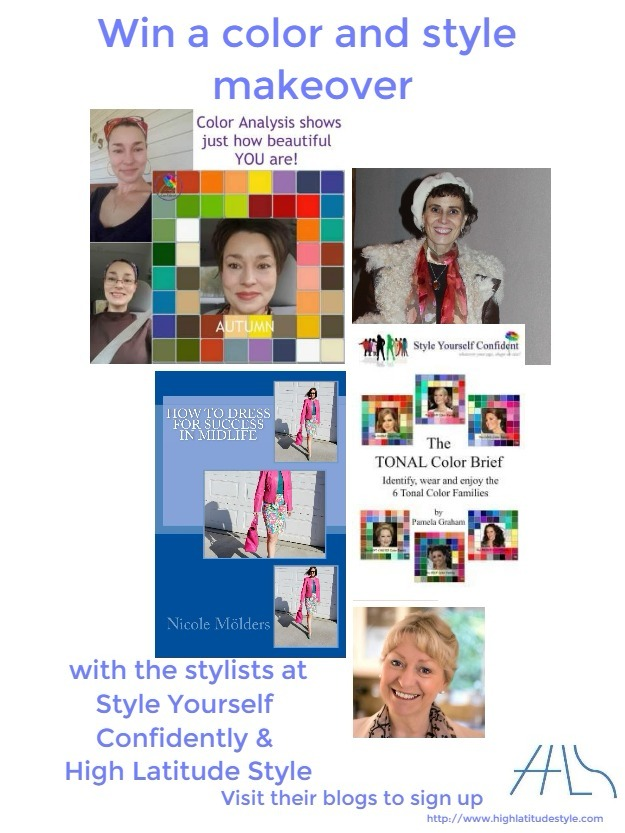 Win a color and style makeover #HighLatitudeStyle #midlifestyle